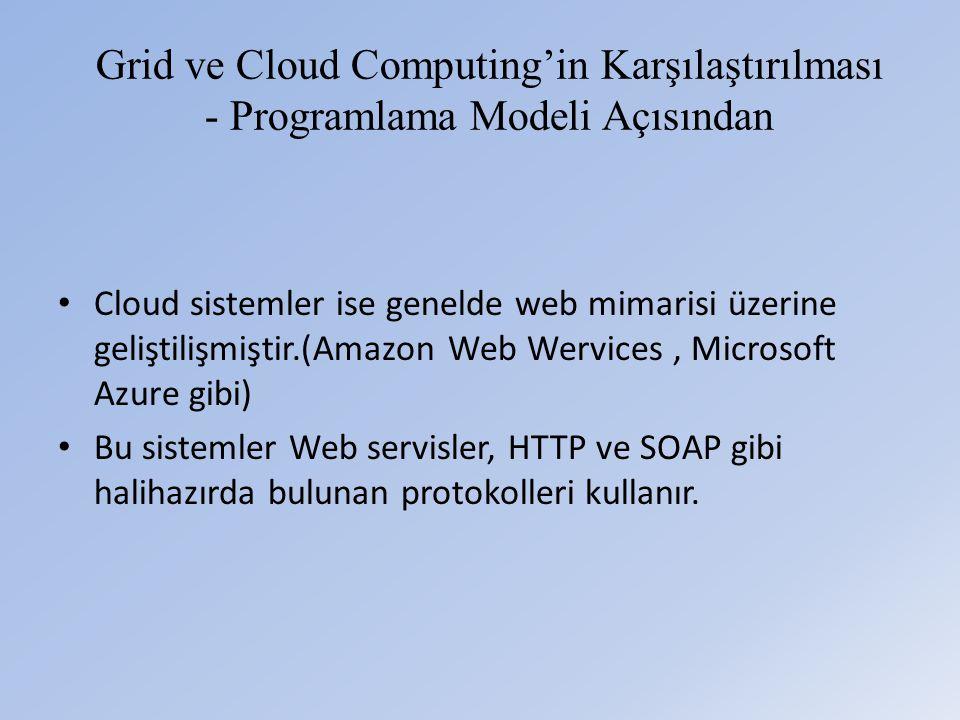 Grid ve Cloud Computing'in Karşılaştırılması - Programlama Modeli Açısından