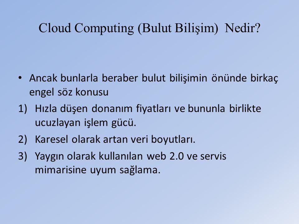 Cloud Computing (Bulut Bilişim) Nedir