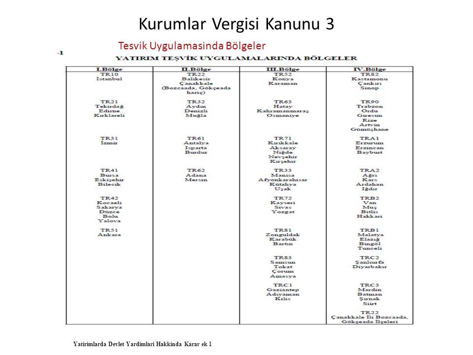 Kurumlar Vergisi Kanunu 3