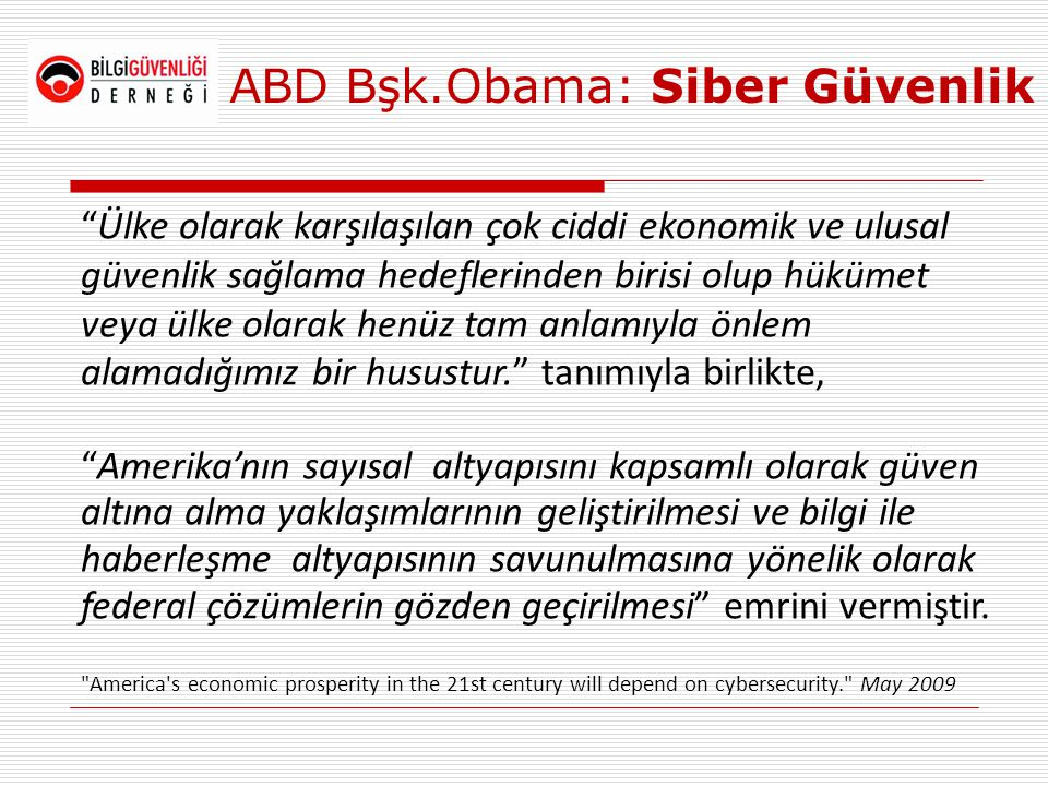 ABD Bşk.Obama: Siber Güvenlik