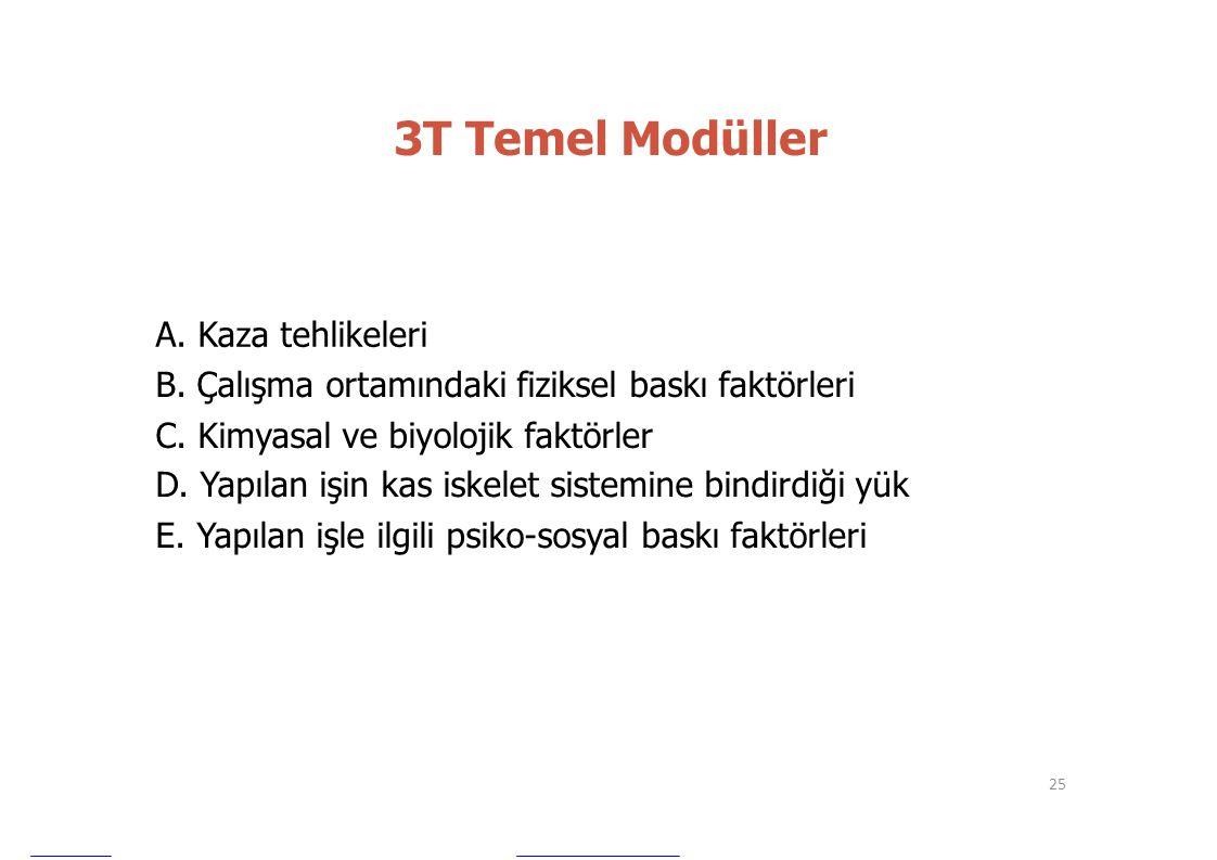 3T Temel Modüller A. Kaza tehlikeleri
