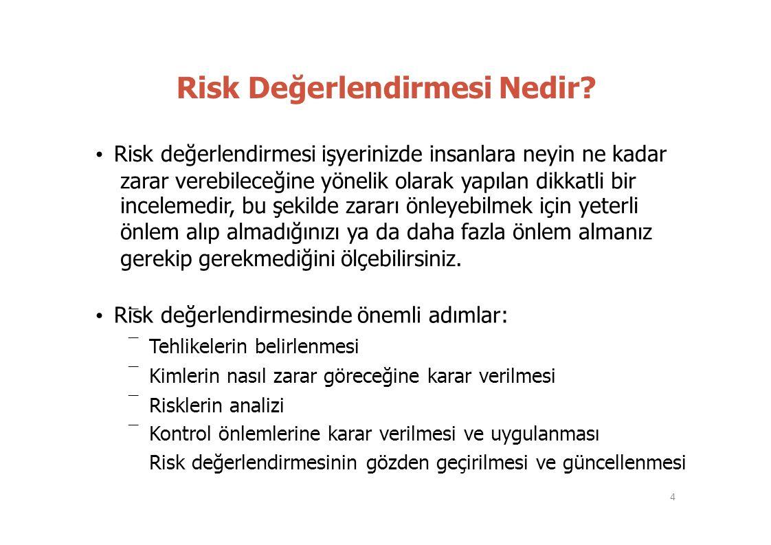 Risk Değerlendirmesi Nedir