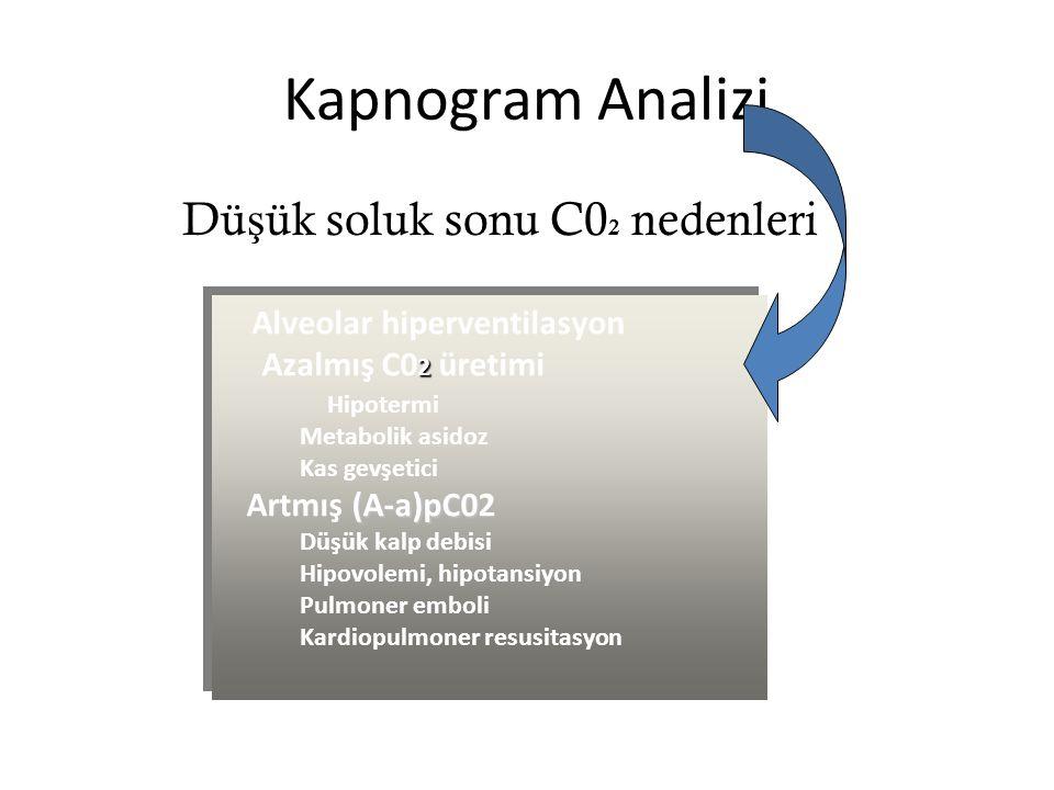 Kapnogram Analizi Düşük soluk sonu C02 nedenleri