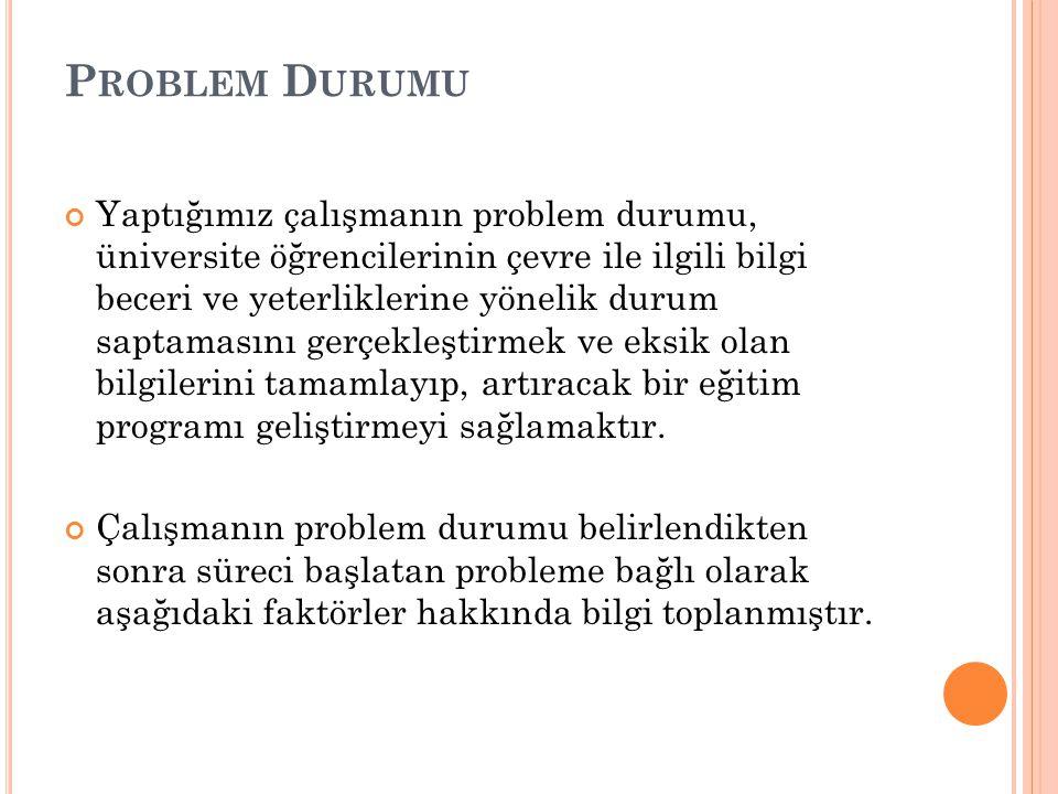 Problem Durumu