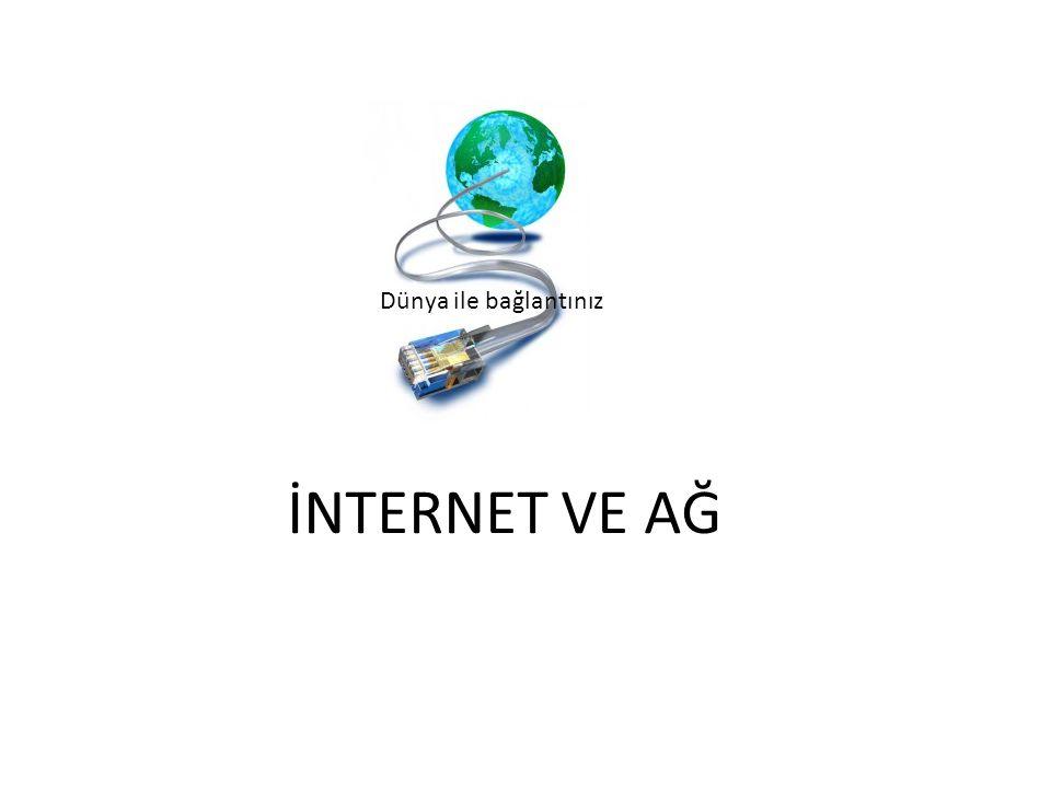 Dünya ile bağlantınız İNTERNET VE AĞ