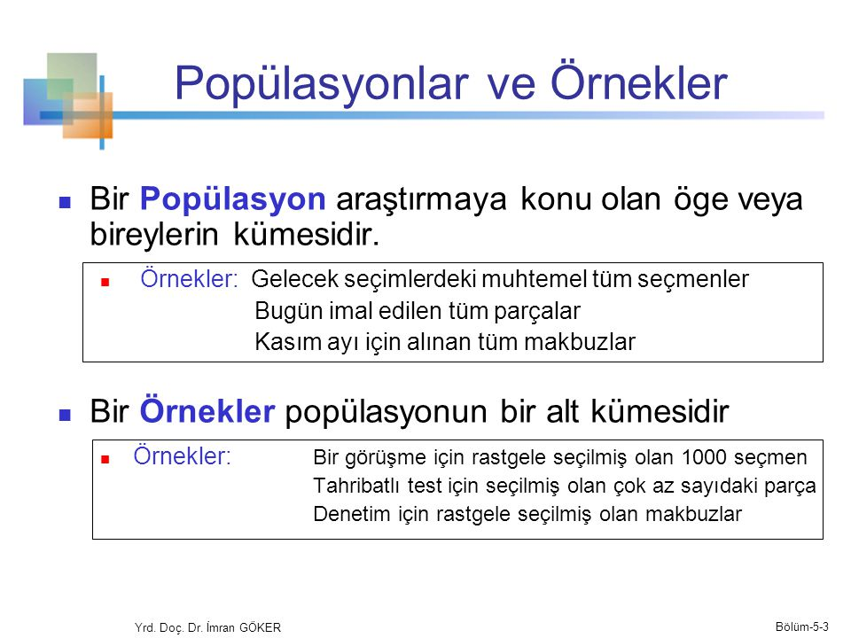 Popülasyonlar ve Örnekler