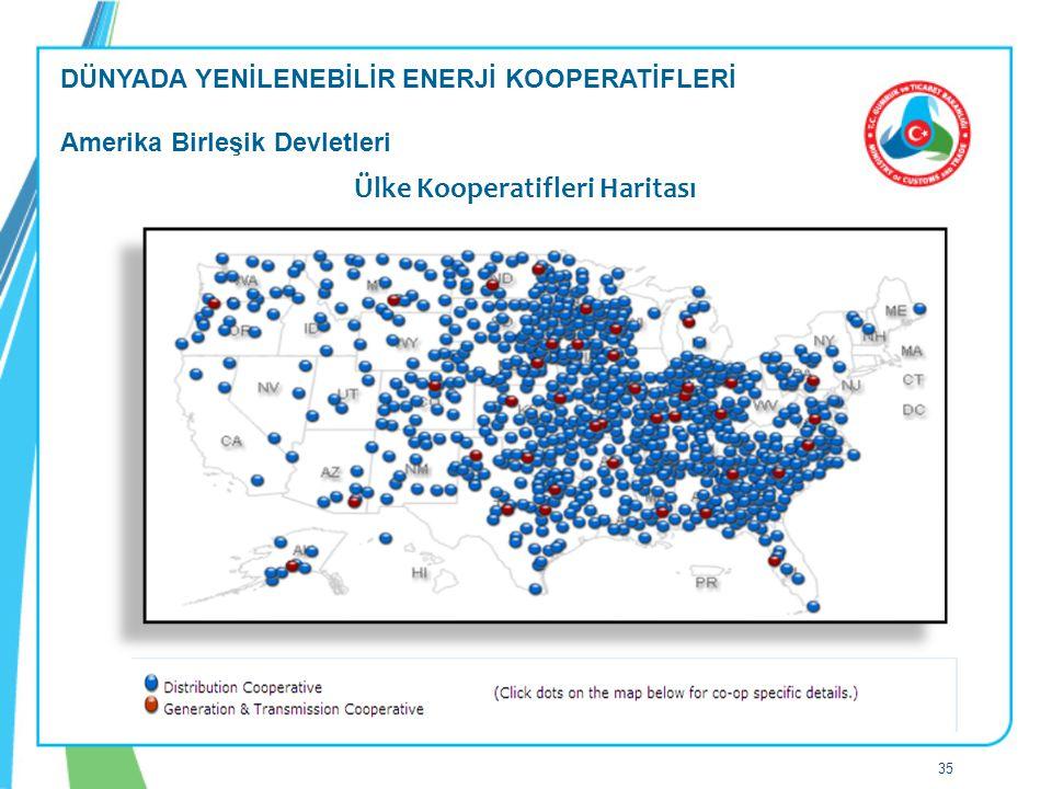 Ülke Kooperatifleri Haritası