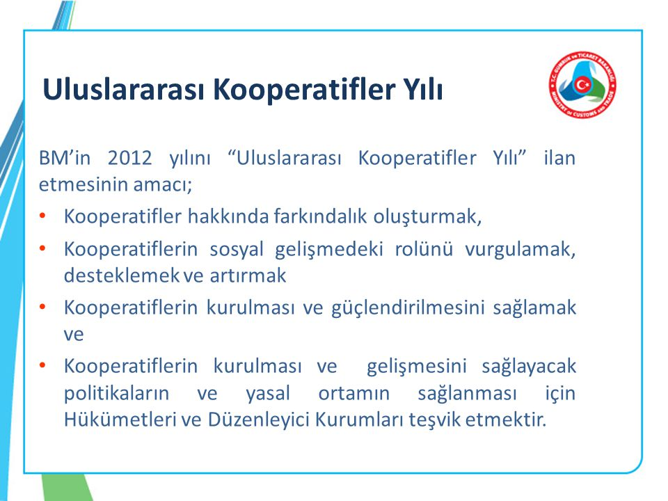 Uluslararası Kooperatifler Yılı