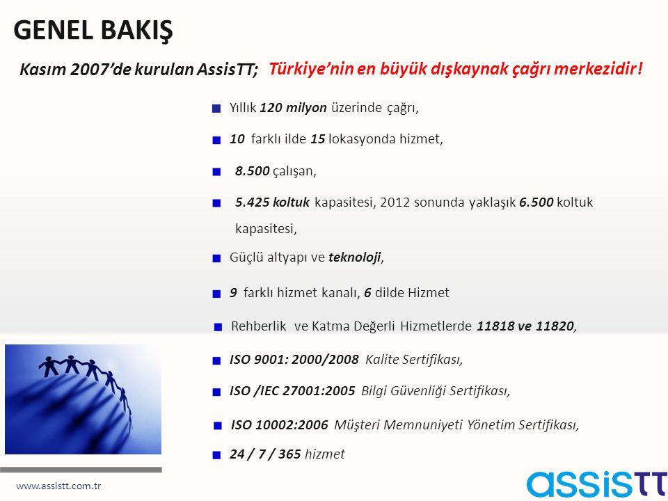 GENEL BAKIŞ Kasım 2007'de kurulan AssisTT;
