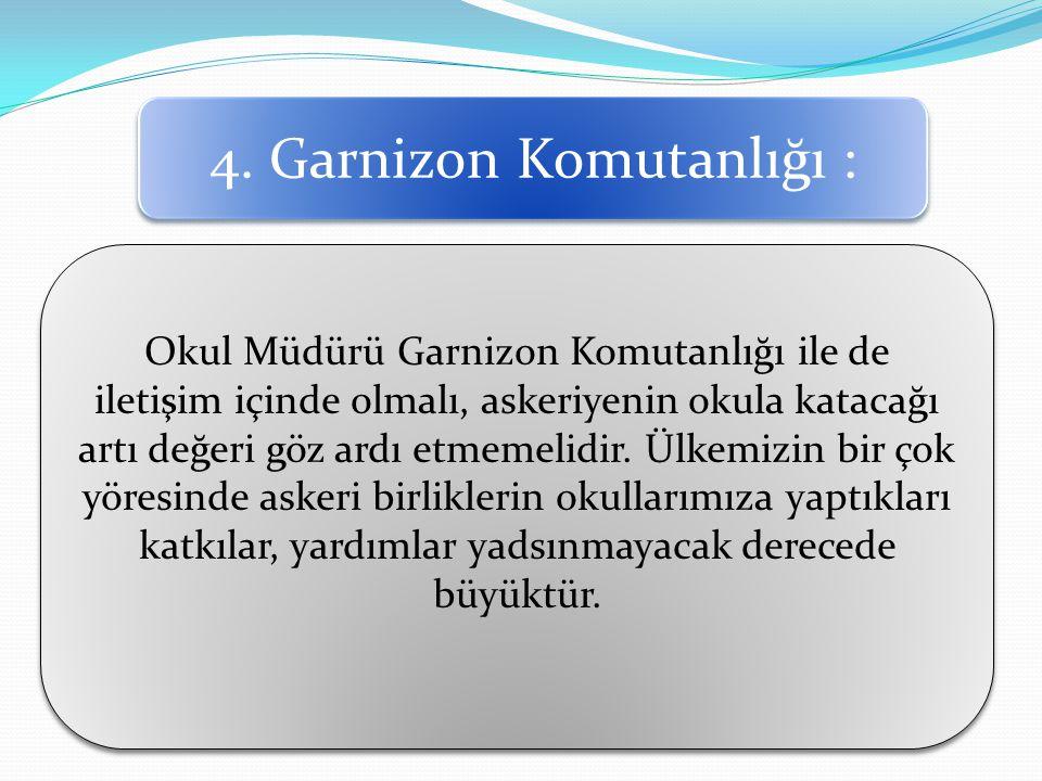 4. Garnizon Komutanlığı :