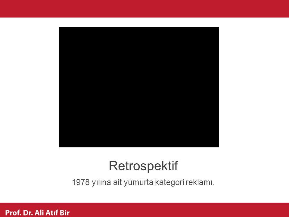 1978 yılına ait yumurta kategori reklamı.