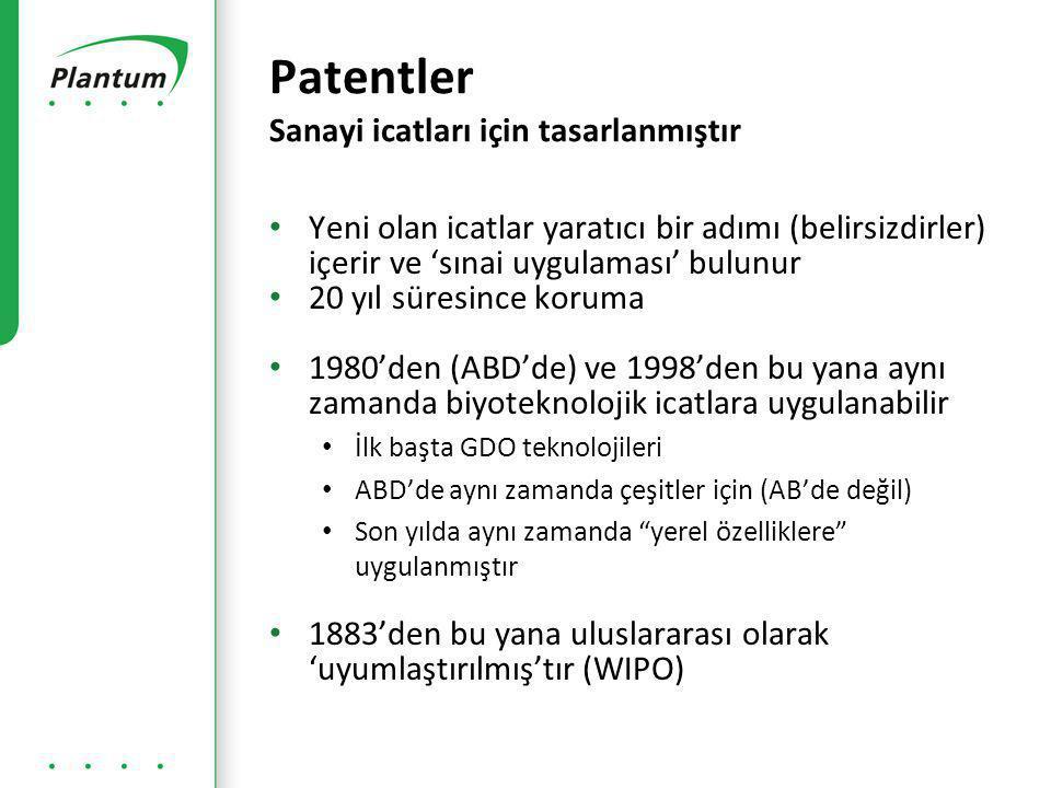 Patentler Sanayi icatları için tasarlanmıştır