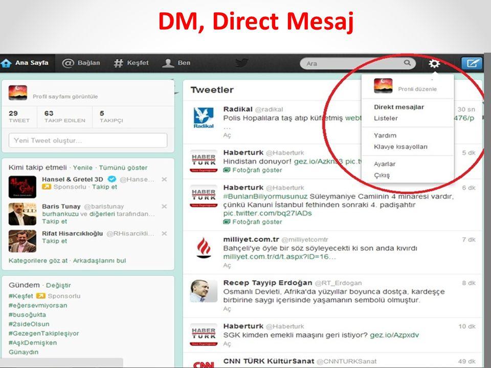 DM, Direct Mesaj