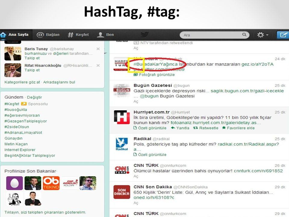 HashTag, #tag: