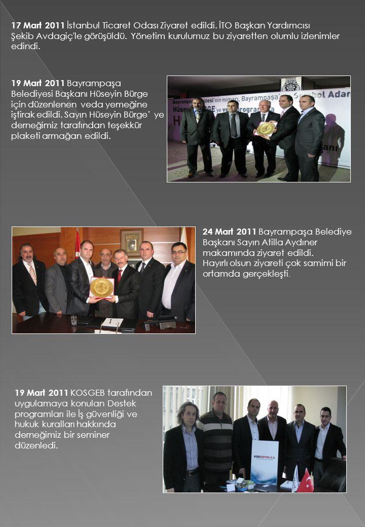 17 Mart 2011 İstanbul Ticaret Odası Ziyaret edildi