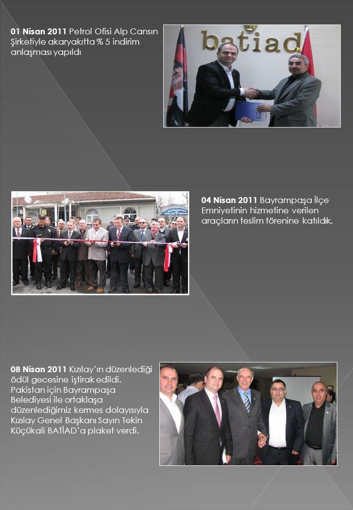 01 Nisan 2011 Petrol Ofisi Alp Cansın Şirketiyle akaryakıtta % 5 indirim anlaşması yapıldı