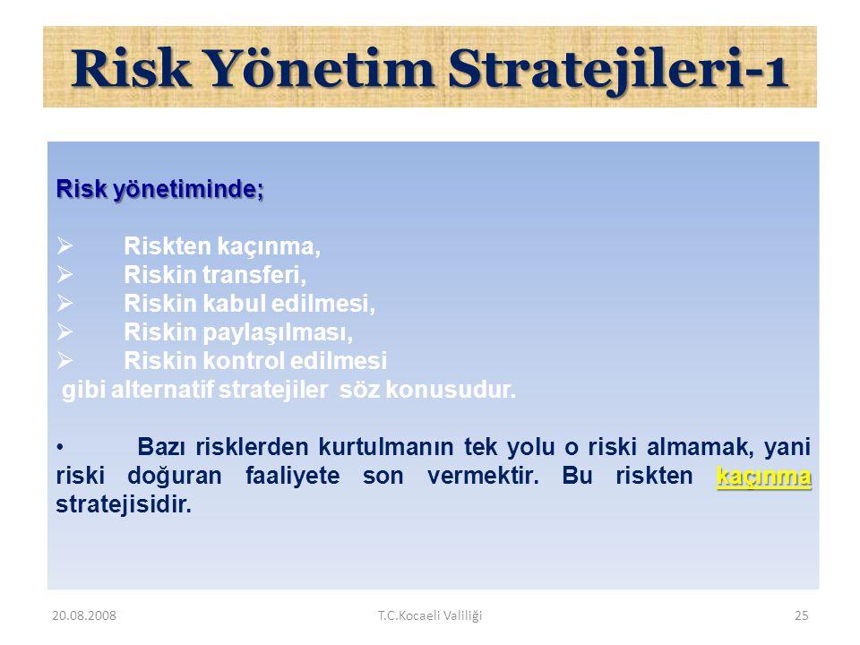 Risk Yönetim Stratejileri-1