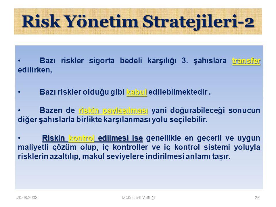 Risk Yönetim Stratejileri-2