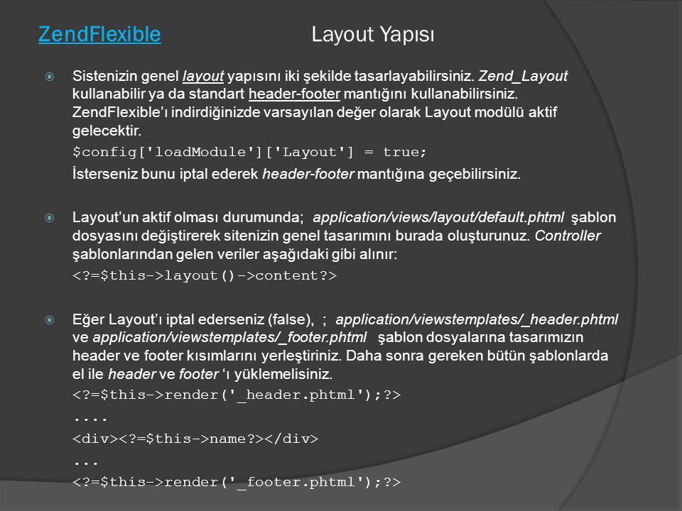ZendFlexible Layout Yapısı