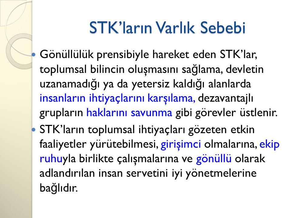 STK'ların Varlık Sebebi