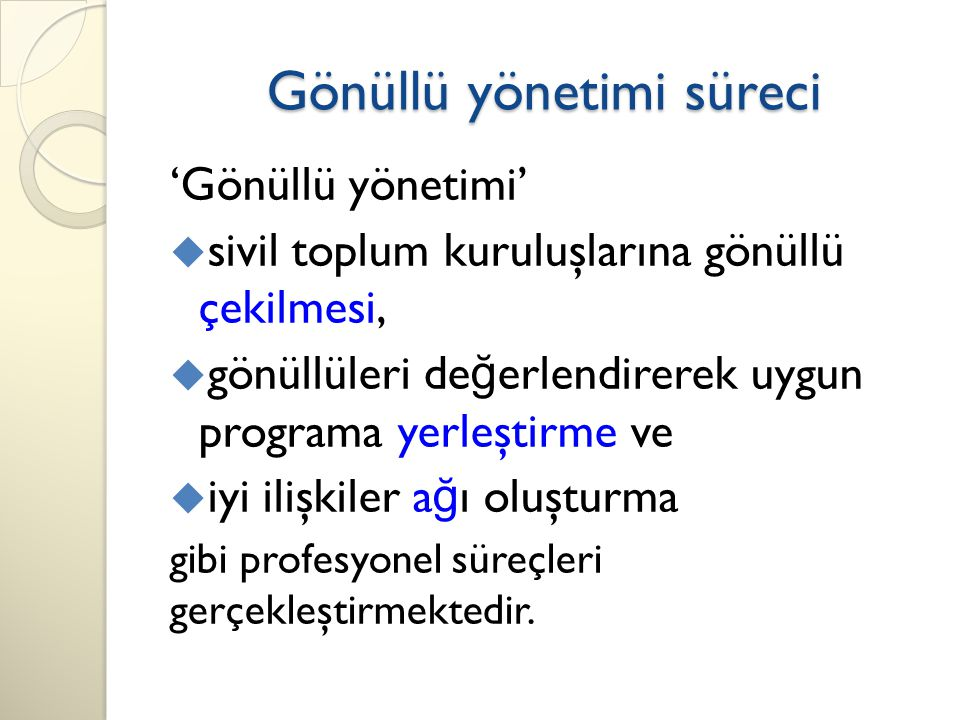 Gönüllü yönetimi süreci