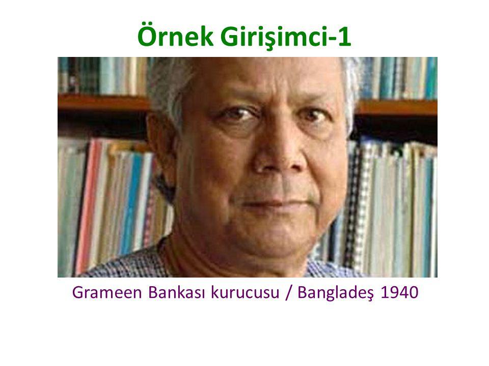 Grameen Bankası kurucusu / Bangladeş 1940