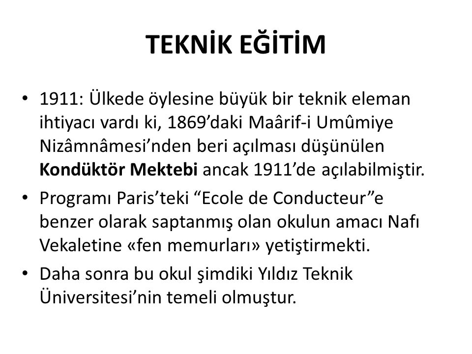 TEKNİK EĞİTİM