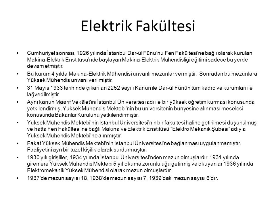 Elektrik Fakültesi
