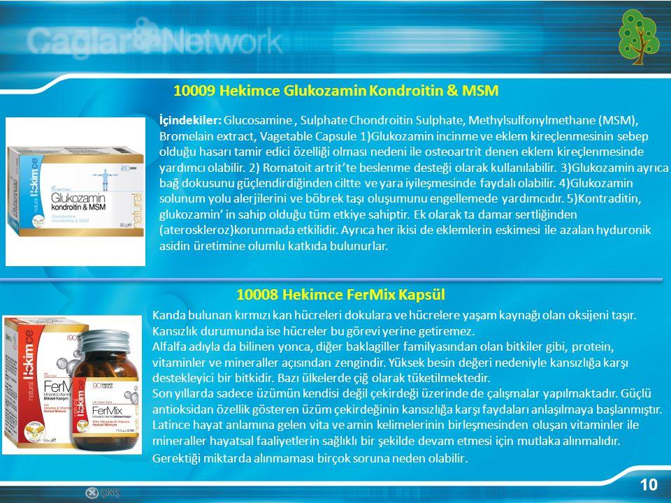 10009 Hekimce Glukozamin Kondroitin & MSM