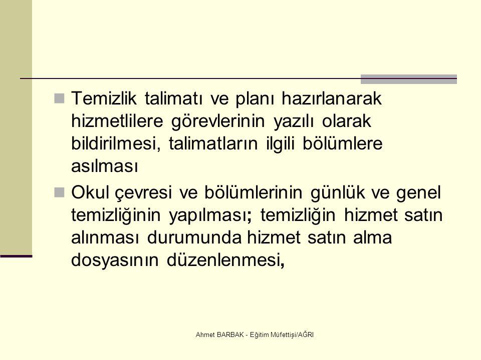 Ahmet BARBAK - Eğitim Müfettişi/AĞRI