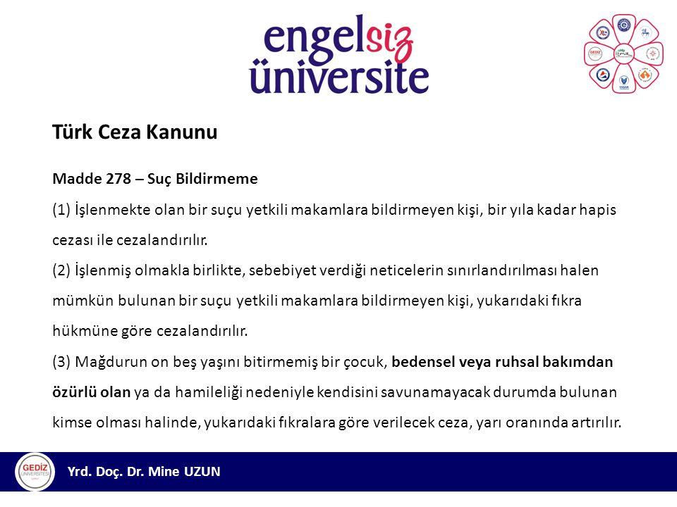 Türk Ceza Kanunu Madde 278 – Suç Bildirmeme