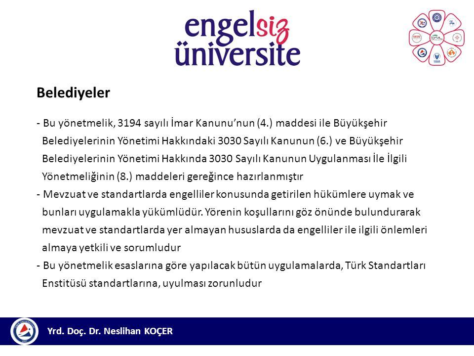 Belediyeler - Bu yönetmelik, 3194 sayılı İmar Kanunu'nun (4.) maddesi ile Büyükşehir.