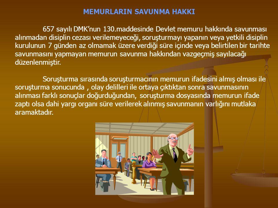 MEMURLARIN SAVUNMA HAKKI