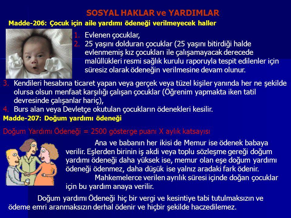SOSYAL HAKLAR ve YARDIMLAR