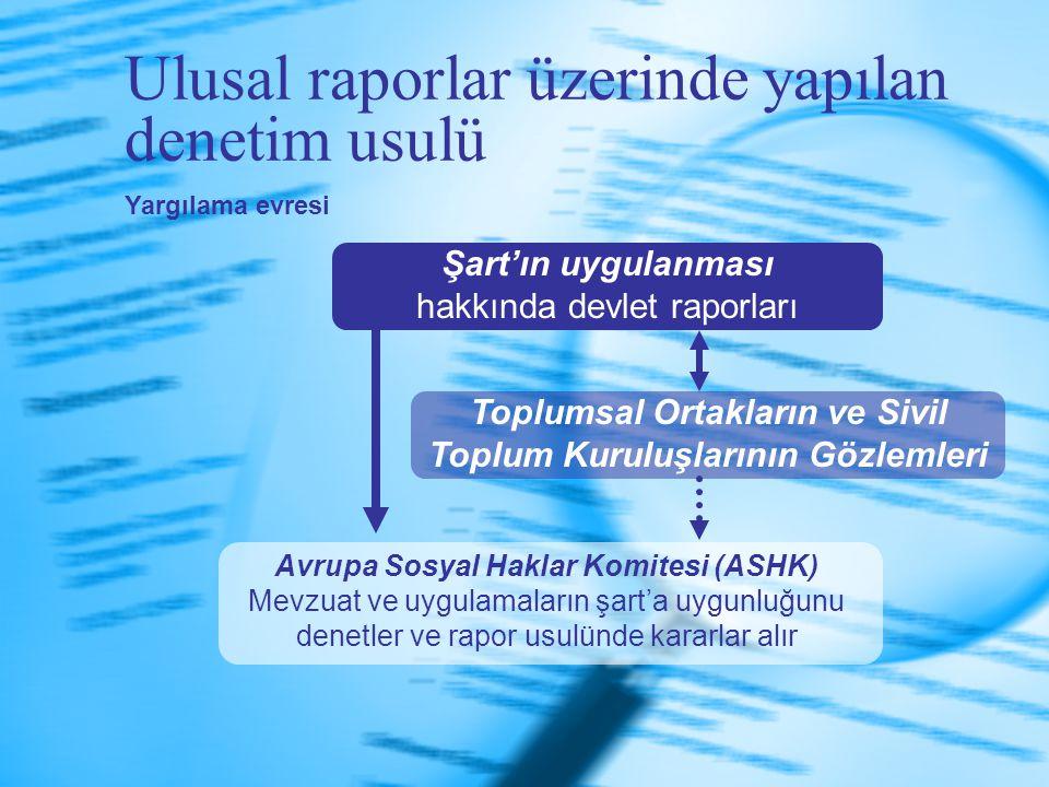 Ulusal raporlar üzerinde yapılan denetim usulü