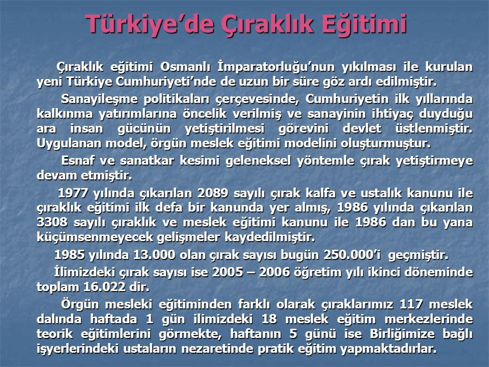 Türkiye'de Çıraklık Eğitimi