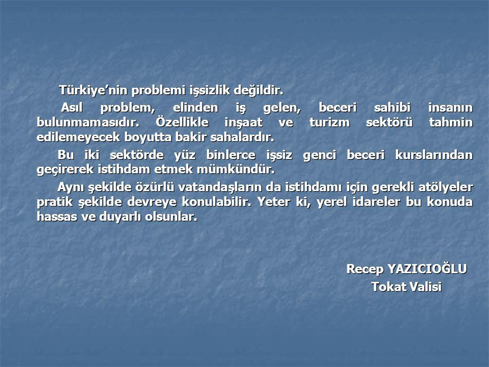 Türkiye'nin problemi işsizlik değildir.