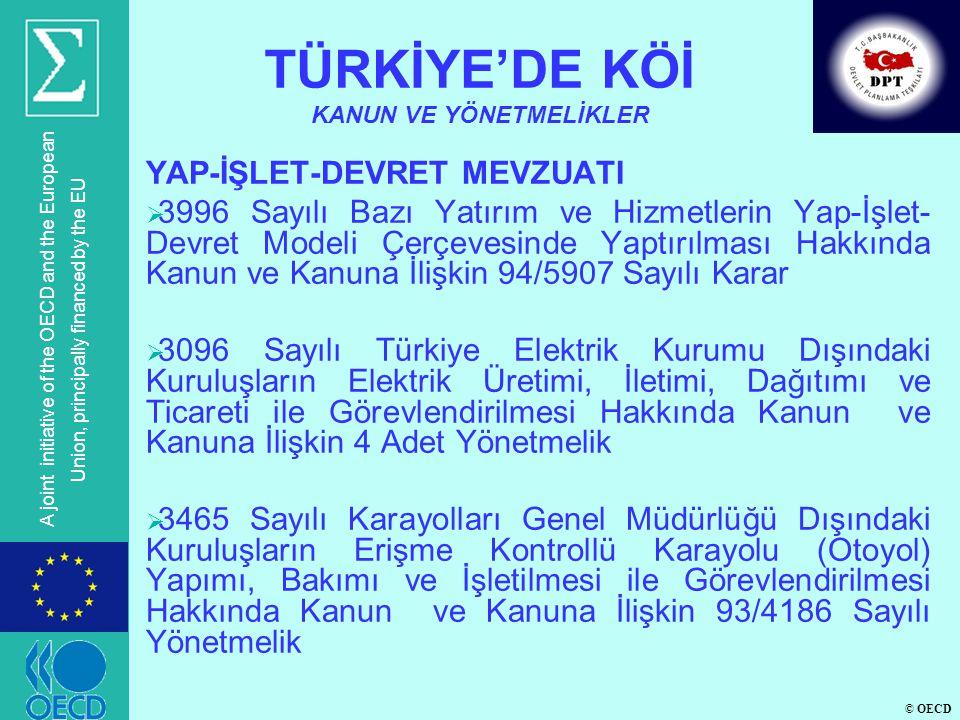 TÜRKİYE'DE KÖİ KANUN VE YÖNETMELİKLER