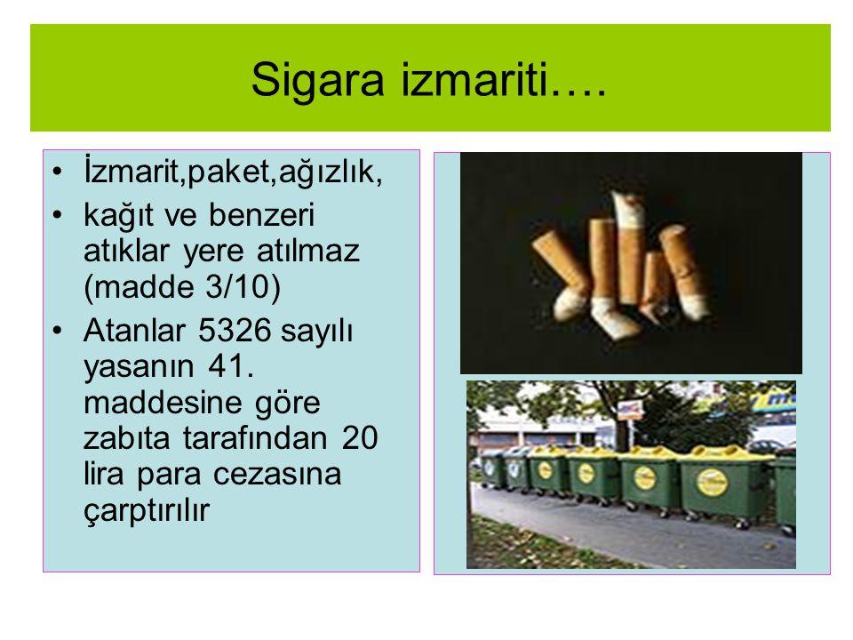Sigara izmariti…. İzmarit,paket,ağızlık,