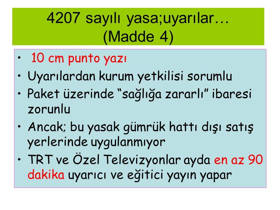 4207 sayılı yasa;uyarılar… (Madde 4)