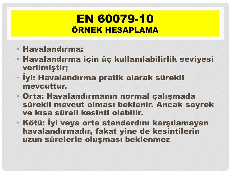 EN 60079-10 Örnek hesaplama Havalandırma: