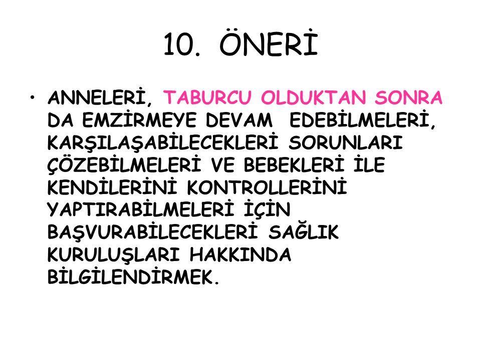 10. ÖNERİ