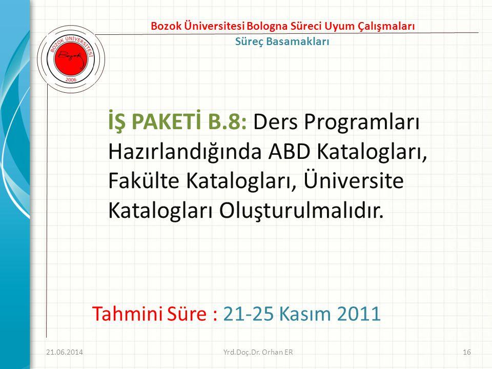 Bozok Üniversitesi Bologna Süreci Uyum Çalışmaları