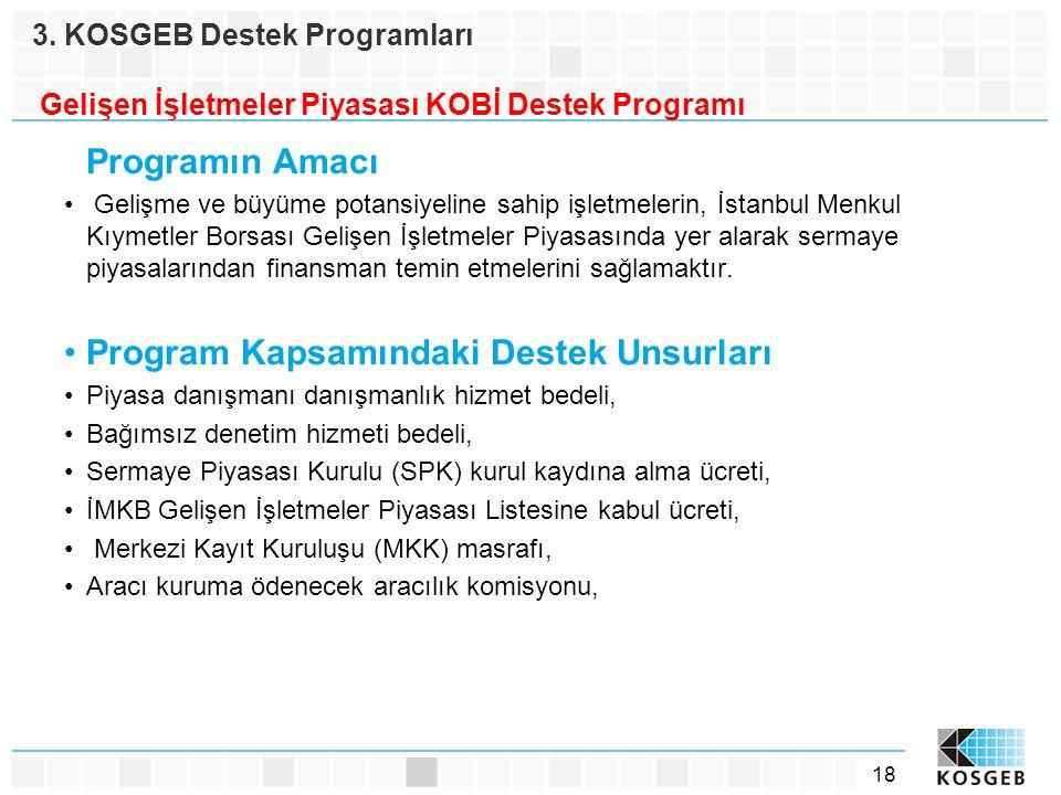 Program Kapsamındaki Destek Unsurları