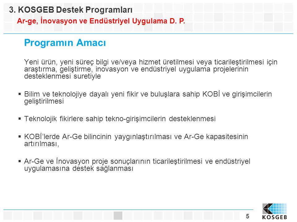 Programın Amacı 3. KOSGEB Destek Programları