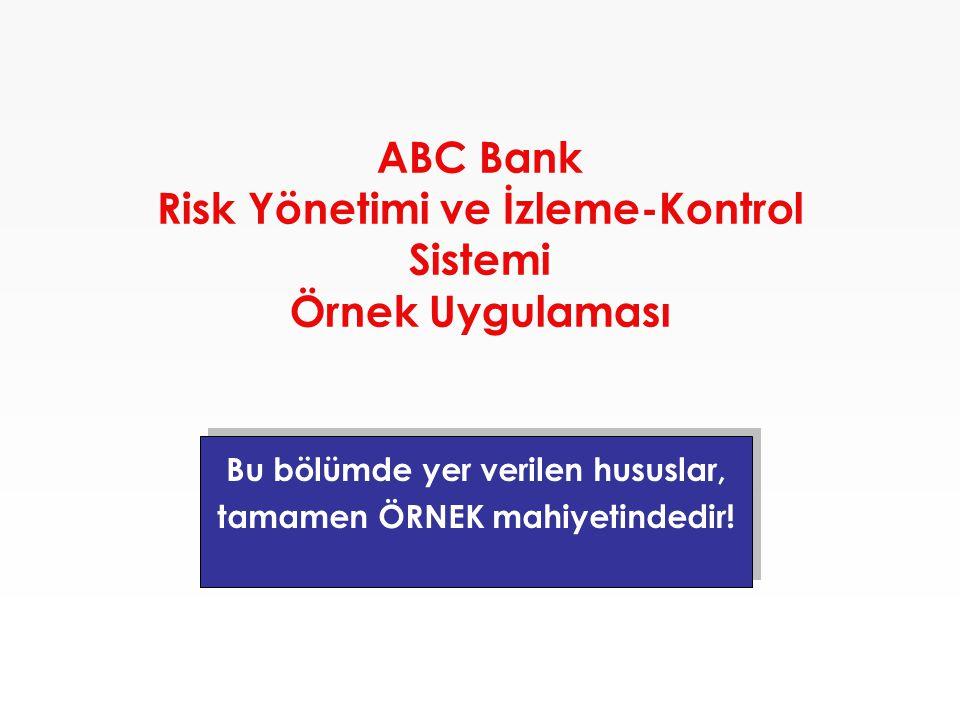 ABC Bank Risk Yönetimi ve İzleme-Kontrol Sistemi Örnek Uygulaması