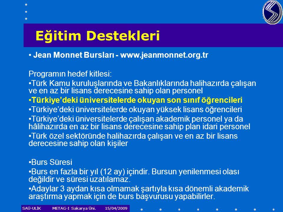 Eğitim Destekleri Jean Monnet Bursları - www.jeanmonnet.org.tr