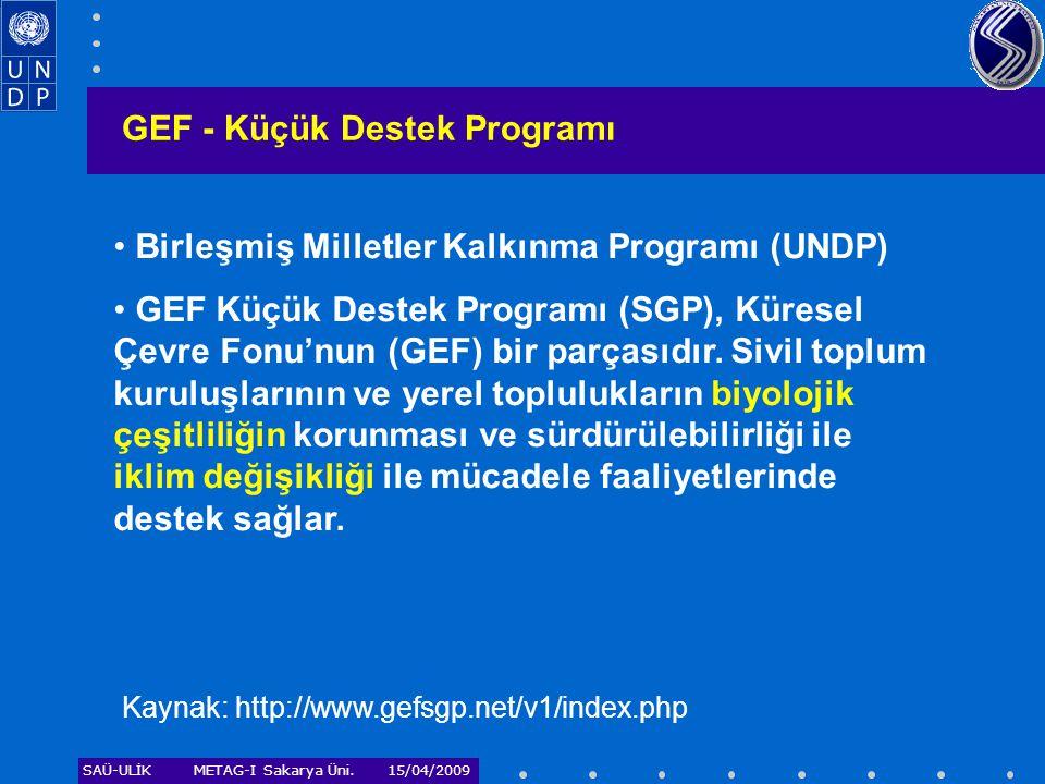 GEF - Küçük Destek Programı