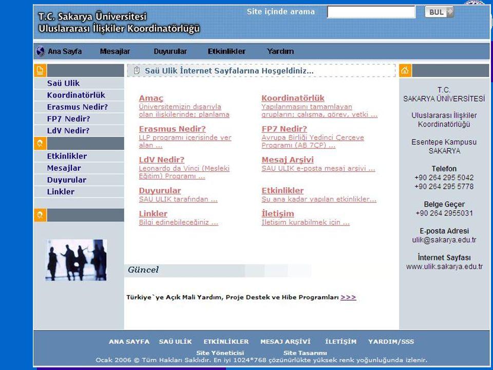SAÜ-ULİK www.ulik.sakarya.edu.tr SAÜ-ULİK