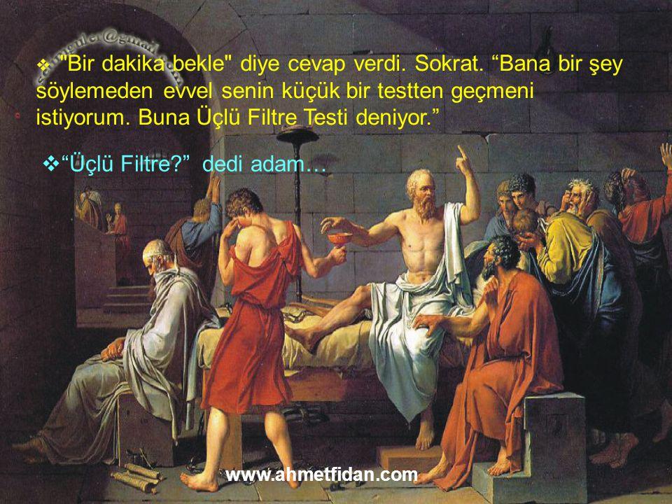 Üçlü Filtre dedi adam…